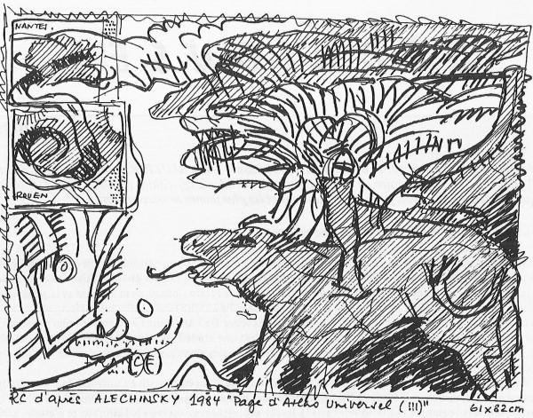 Alechinsky bretagne 1998 dessin RC
