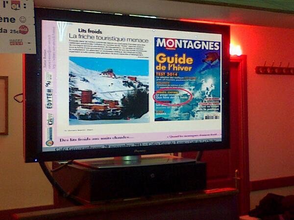 """En pleine saison de ski, des friches touristiques : les """"lits froids""""."""