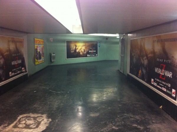 Paris, couloirs de la station RER Nation, Juin 2013, photographie BP