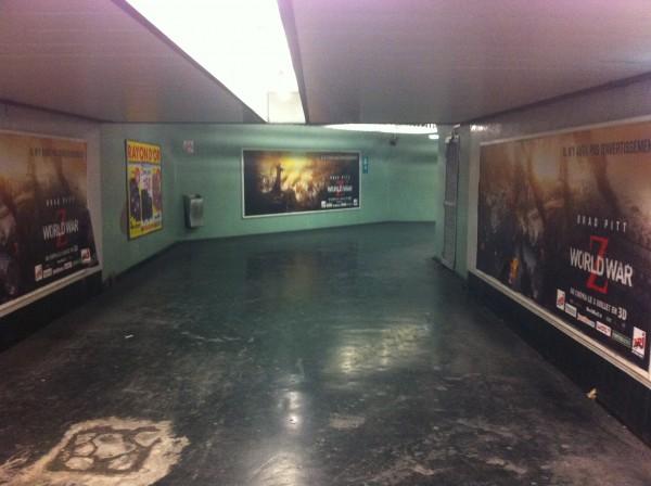 Paris, couloirs de la station RER Nation, Juin 2013, photographie BP