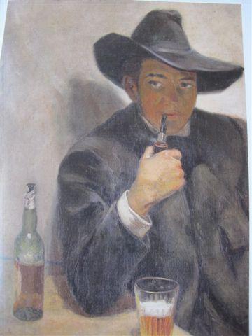 Autoportrait  au chapeau (1907)  Museo Dolorès Olmedo, Mexico, Xochimilco