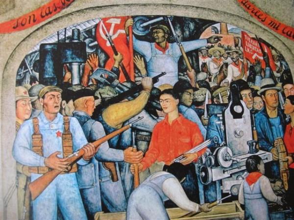 L'Arsenal. La distribution des armes (1928) Museo Dolorès Olmedo, Mexico, Xochimilco