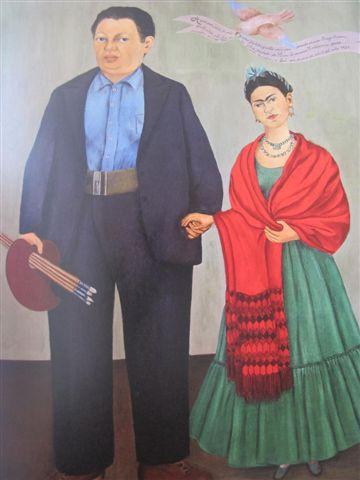 Frida Kahlo & Diego Rivera (1931) Museo Dolorès Olmedo, Mexico, Xochimilco