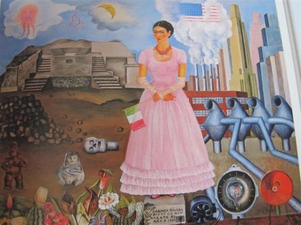 Autoportrait à la frontière entre le Mexique et les Etats-Unis (1932) New York Collection Manuel Reyero