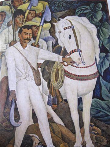 Zapata (1931)  Fresque du Palais Cortes à Cuernavaca