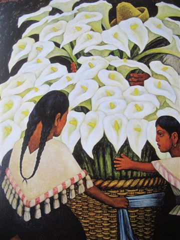 Vendeuses d'arums (1943)Collection Miguel Aleman Velasco