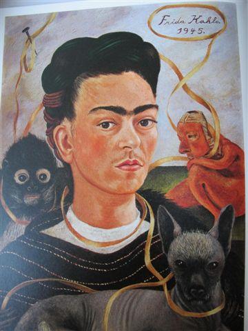 Autoportrait au singe (1945) Museo Dolorès Olmedo, Mexico, Xochimilco