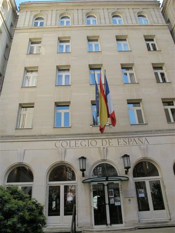 L'entrée du Collège d'Espagne