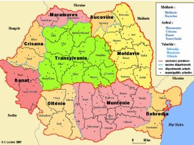 L'organisation administrative de la Roumanie