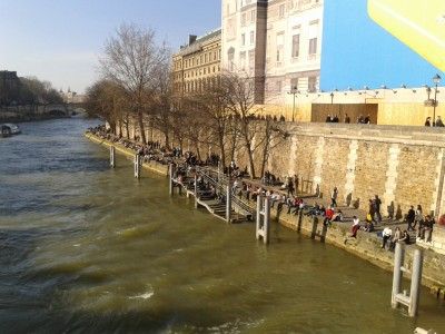 Berges de la Seine du pont Saint-Michel, Paris, 8 mars 2014, Copyright © L. Bourdeau-Lepage