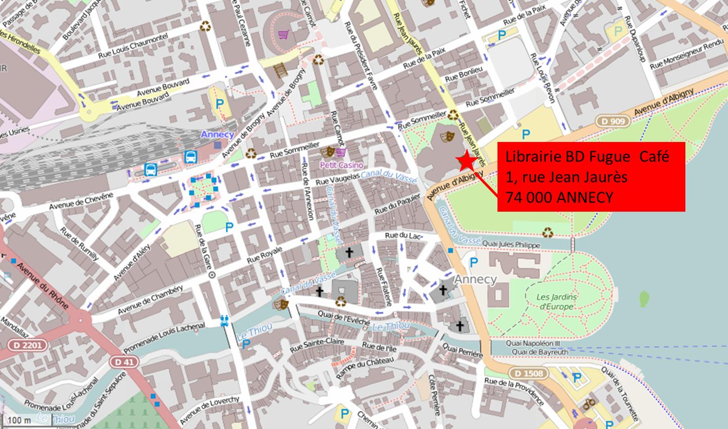 Plan Annecy Centre Ville