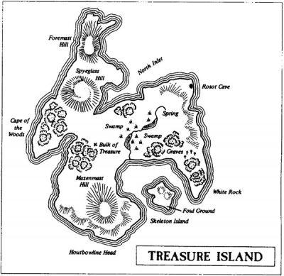 L'imaginaire de l'île au trésor Source : Frédéric Durand et Marie Redon, « Qu'est-ce qu'une île aujourd'hui ? », Cafés géographiques, rubrique Des Cafés, compte rendu du café géographique du 25 avril 2007, 25 avril 2007.