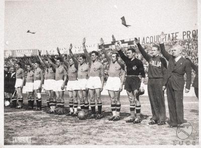L'équipe nationale italienne, Rome, 1940.