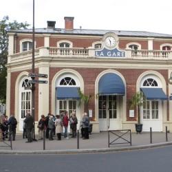 Ancienne gare de Passy (16e) transformée en restaurant, Cliché Françoise Mourot