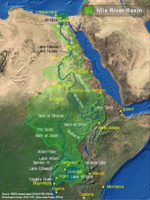 Le bassin du Nil