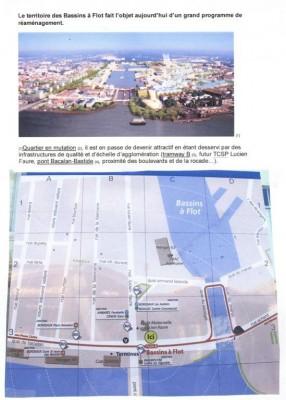 Le plan est centré sur les bassins à flot.