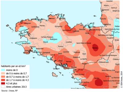 Densité de population en 2013