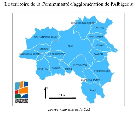 Le territoire de la C2A