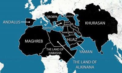 Source: Carte diffusée par Daesh et reprise sur de nombreux sites.