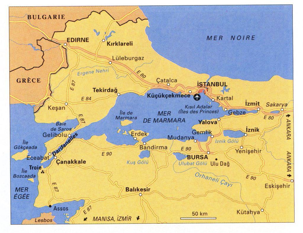 Plan De La Ville De Constantinople E S