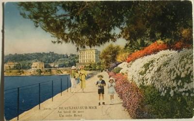 BEAULIEU SUR MER, Au bord de mer, Un coin fleuri N°1010 de G. Le Maître et Cie, éditeurs, Nice (collection de l'auteur)
