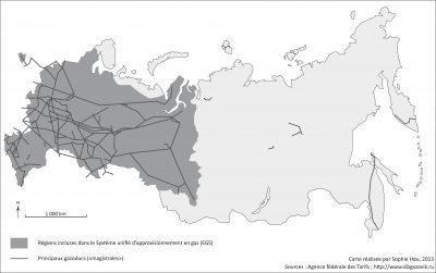 Les réseaux de gazoducs en Russie. Auteur: S. Hou