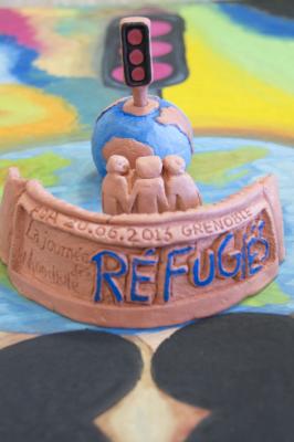 Photographie 1 : cartographie d'un réfugié (© Sarah Mekdjian)