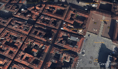 Le centre de Turin (Google Earth)