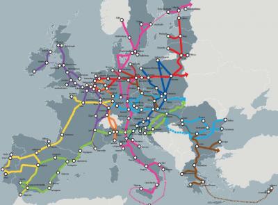 Carte des 9 corridors: Du patchwork au network: l'établissement d'un réseau primaire – Tallinn - octobre 2013
