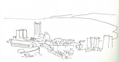 2 - une vue de Cerro La Loma vers la baie.