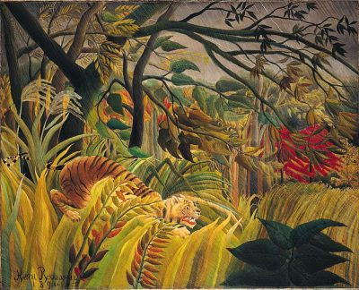Surpris ! Ou jungle dans la forêt tropicale, 1891 National Gallery, Londres