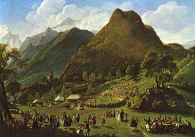 Illustration 3 : E. Vigée-Lebrun, Les fêtes d'Unspunnen, 1808.