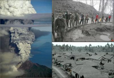 Images de l'éruption de 2010 (source: presse locale)