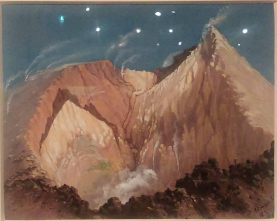 Fig. 2: Cratère de l'Etna en Sicile: Viollet-le-Duc, 1836(Musée Lambinet, Versailles)