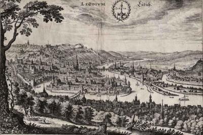 Fig.5. Liège, Gravure du XVIeme siècle (1626), Mérian, Université de Leyde