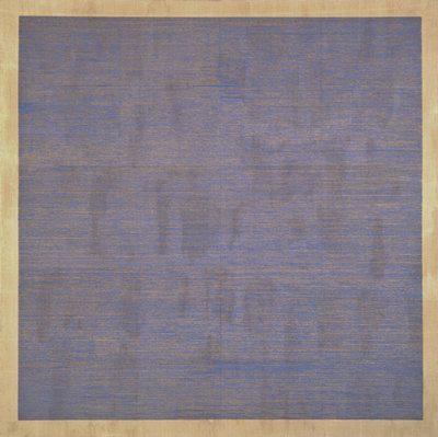 Agnes Martin, Falling Blue – 1963- SFMOMA, don de M & Mme Moses Lasky SFMOMA / photo Ben Blackwell