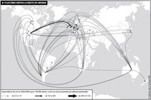 Les flux depuis le reste du monde Source : Géonconfluences