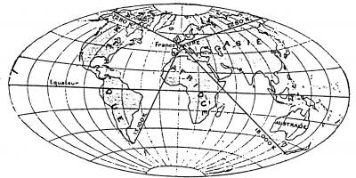 Figure 5 : La France dans le monde selon un manuel de Primaire supérieur de 1898