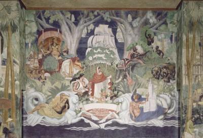 Figure 4 : Fresque centrale de Ducos de La Haille au palais de la Porte Dorée (1931)