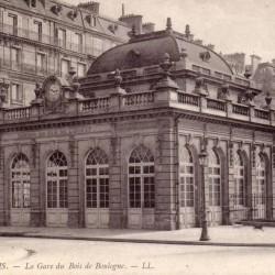 Gare du Bois de Boulogne, aujourd'hui gare de l'Avenue Foch (Source : Wikipédia)