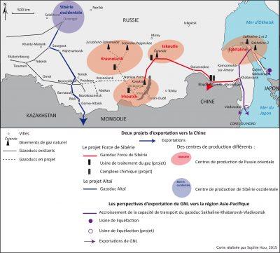 Projets et perspectives d'exportation de gaz depuis la Russie vers l'Asie. Auteur: S. Hou