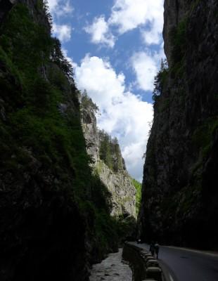 Les gorges de Bicaz comptent parmi les plus belles de Roumanie. La route en lacets est parfois dominée par des parois de 400 m (cliché Daniel Oster, juin 2015)