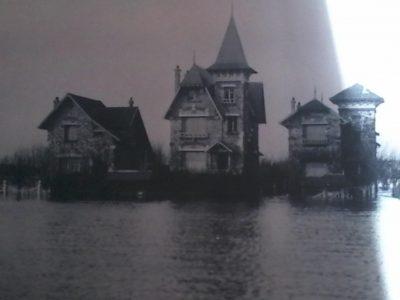 Figure 4 île de Migneaux, crue de 1910