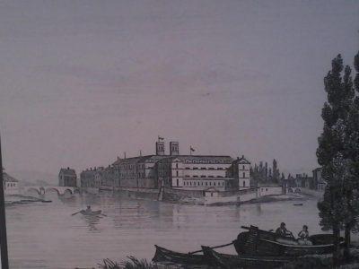 Figure 1 île Saint-Etienne. Gravure de 1835