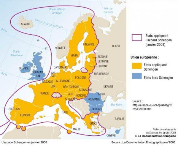 Illustration 2 : L'espace Schengen