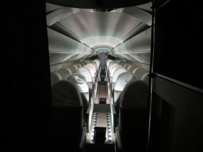 L'intérieur du Concorde (cliché J.-P. Némirowsky)