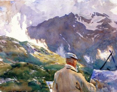 John Singer Sargent, Artist in the Simplon, 1909