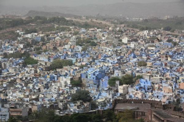 Jodhpur, la ville bleue (photo de Maryse Verfaillie, mars 2013)