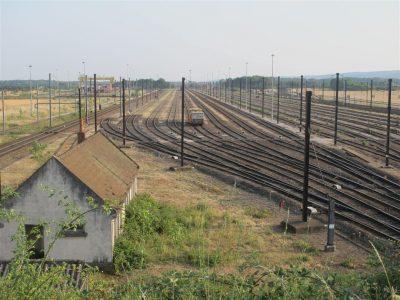 Gare de triage de Gevrey. Cliché de Maryse Verfaillie