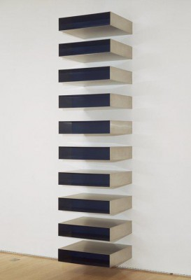 Donald Judd, Untitled 1973 SFMOMA, achat avec l'aide de fonds du National Endowment for the Arts et des amis du musée. SFMOMA / photo Ben Blackwell.